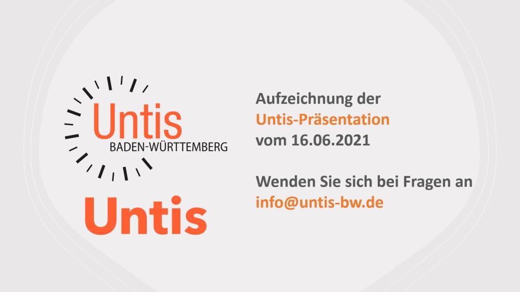 Untis-Präsentation im Rahmen der Untis Infotage 2021